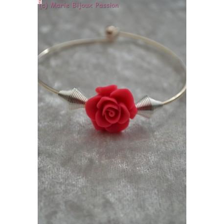 Bracelet fleur rose
