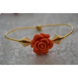 Bracelet fleur orange