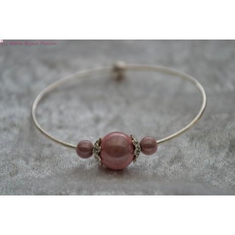 Bracelet perle rose