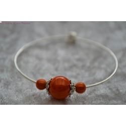 Bracelet perle orange