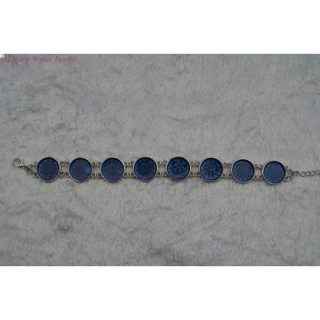 Bracelet peint bleu
