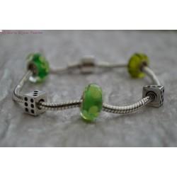 Bracelet style PANDORA vert