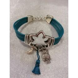 Bracelets en cuir bleu