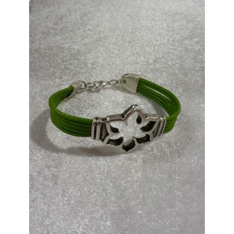 Bracelets en cuir vert