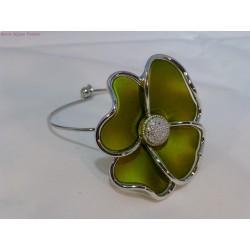 Bracelet fleur verte