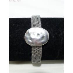 bracelet inox passant ovale