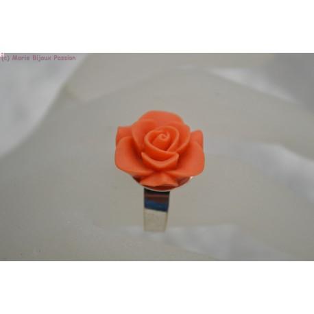 Bague fleur orange