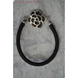 Bracelet caoutchouc noir