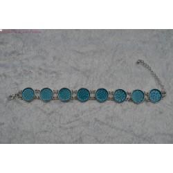Bracelet peint turquoise
