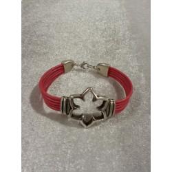 Bracelets en cuir rose