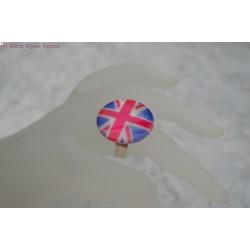 Bague en nacre drapeau anglais