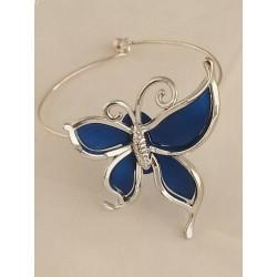 Bracelet argenté Papillon bleu