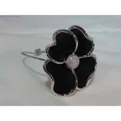 Bracelet fleur noire