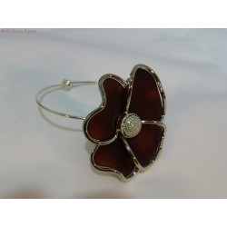 Bracelet fleur marron
