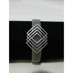 Bracelet inox losange