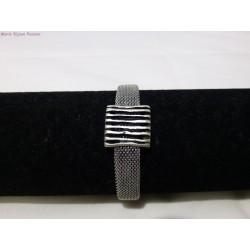Bracelet inox passant carré