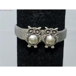 Bracelet inox petites chouettes