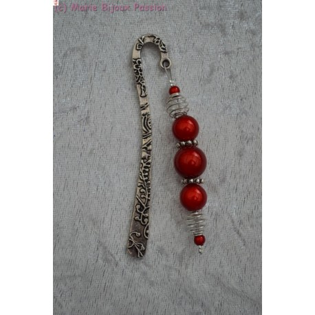 Marque Page perles magiques rouges