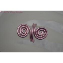 Bague en fil alu couleur rose